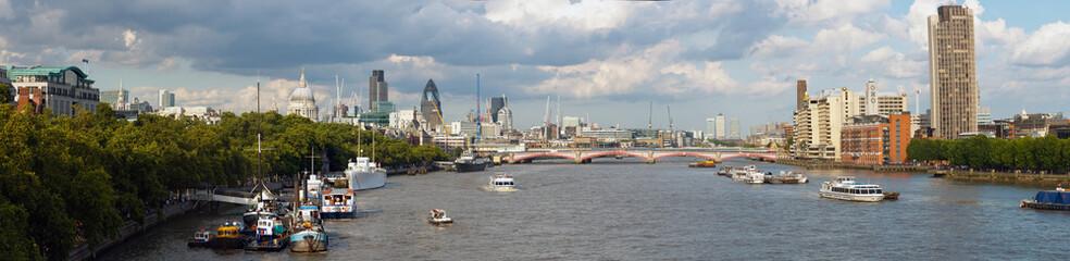 River Thames skyline, London, England, UK