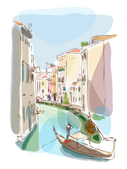 venetian summer with gondolier