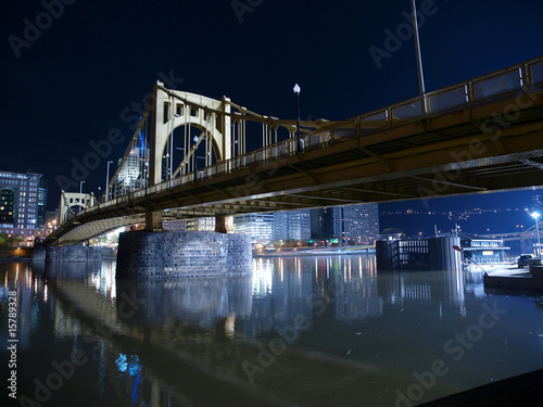Pittsburgh Bridge at Night