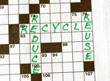 The Words Reduce, Reuse, Recycle on Crossword Puzzle poster