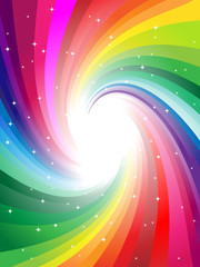 various colors in rainbow colors vector illustrated