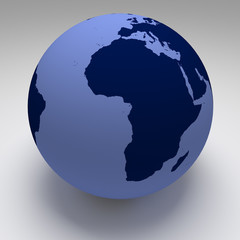 World Globe Blue