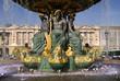 Fontaine des fleuves de la place de la Concorde à Paris