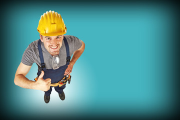 handyman blue background