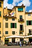 Piazza Anfiteatro square in Lucca Toscane poster