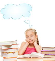 Thinking schoolgirl....