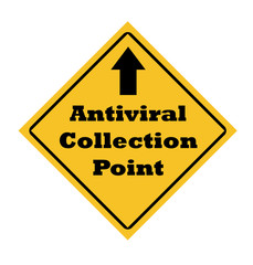 Antiviral collection point sign
