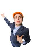 Man wearing hardhat poster