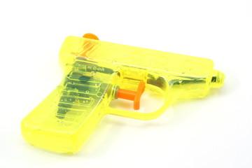 Yellow toy squrt gun
