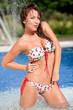 Bikini woman posing