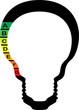 classe énergétique, ampoule symbolique vecteur