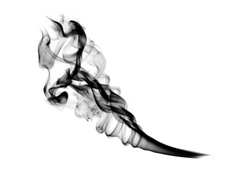 Abstract Smoke Shape over white