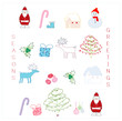 cute christmas design elements