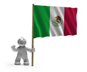 mexiko flagge lachen