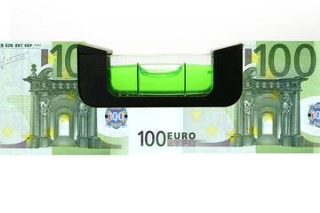 100 Euro Wasserwaage