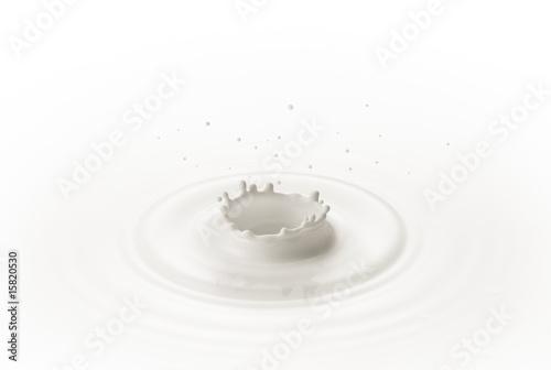 Leinwandbild Motiv milk splash