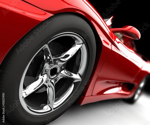 czerwony-samochod-z-felga