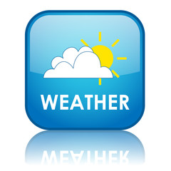 "Square ""WEATHER"" button with reflection"