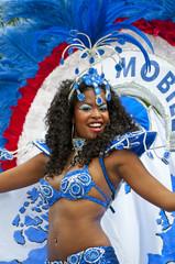 danseuse brésilienne, bleu, blanc et rouge