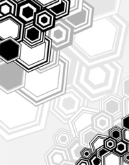 Abstract geometrical background from hexagons