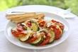 Zucchini und Tomaten überbacken mit Käse