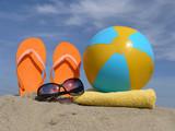 Beach accessories poster