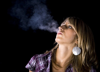 Young woman smoking