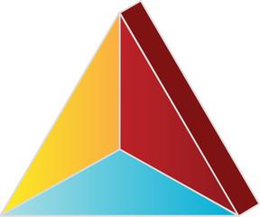 3 Part 3D Pyramid