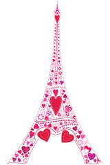 Love in Eiffel tower