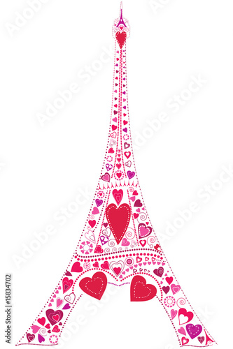 Love in Eiffel tower