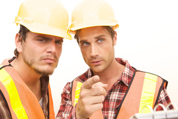Two Construction Workers at the job