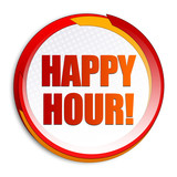 Happy Hour! Button
