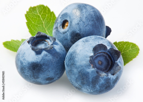 Bilberry on a white background