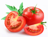 Fototapety tomatoes on a white background