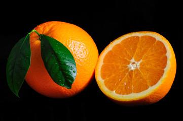 orange, frucht,