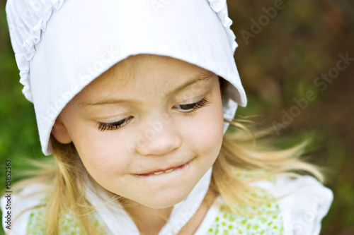 Bashful Amish Child