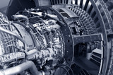 powerful jet engine detail poster