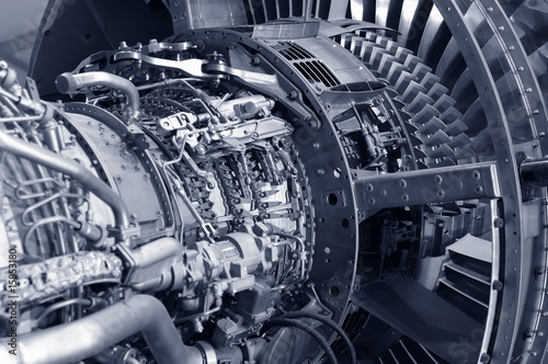 powerful jet engine detail