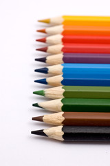 A set of colorful pencils (shallow depth-of-field)