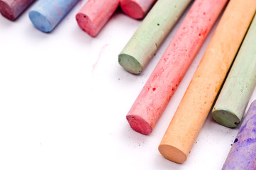 Chalks in various vivid colors