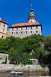 Krumau, Tschechien. Ansicht der Stadt