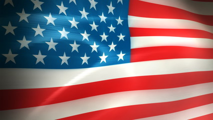 American Flag Waving - HD Loop