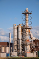 industrial Chemical plant outside pipes and vents