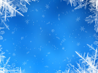 light blue snowing background
