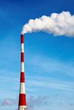 Air polluting smokestack poster