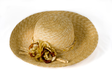 Lady Straw Hat With Flower
