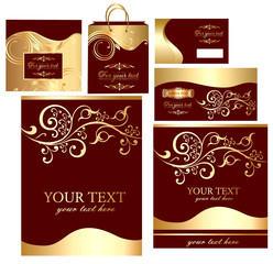 Set business of cards