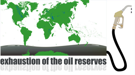 exhaustion of the oil reserves