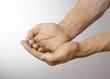 mains symbole recevoir donner