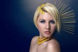 Fototapety woman - pasta makeup
